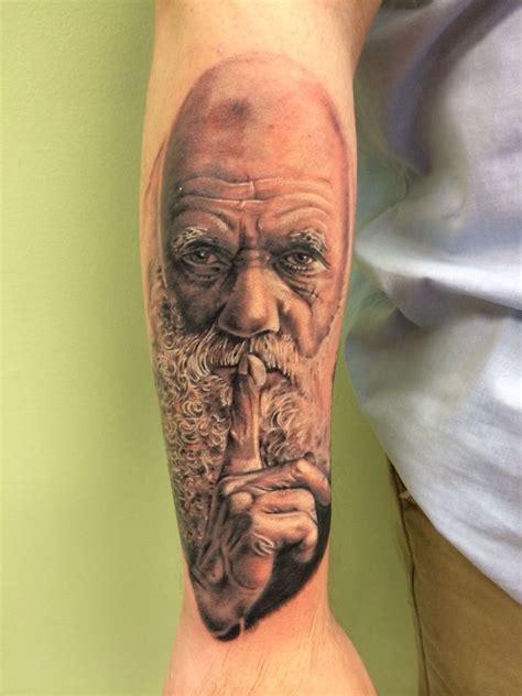 nepa tattoo club my charles darwin portrait part of an evolution science