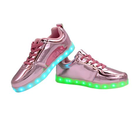 Shoes Glossy Led galaxy led shoes light up usb charging low top sneakers pink glossy galaxy led shoes