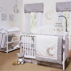 Wolf Crib Bedding Gray White Celestial Moon W Baby Unisex Nursery 4 Pc Crib Bedding Set Ebay