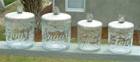 vintage glass canisters kitchen vintage glass canisters kitchen canisters pinterest