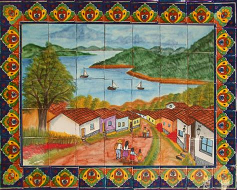 mexican wall murals mexican tiles talavera tile murals toilets sinks