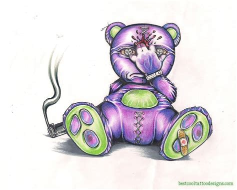 tattoo designs evil teddy designs best cool designs