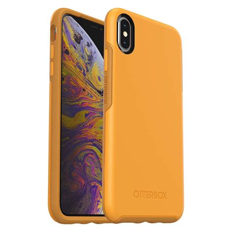 otterbox symmetry series for iphone xs max retail packaging aspen gleam citrus
