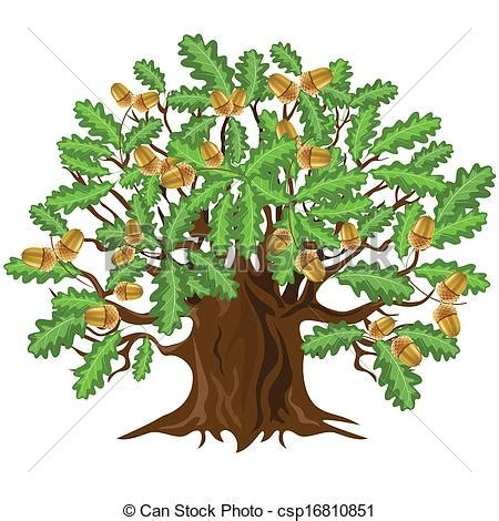 can stock photo clipart vecteur clipart de ch 234 ne arbre glands vecteur illust