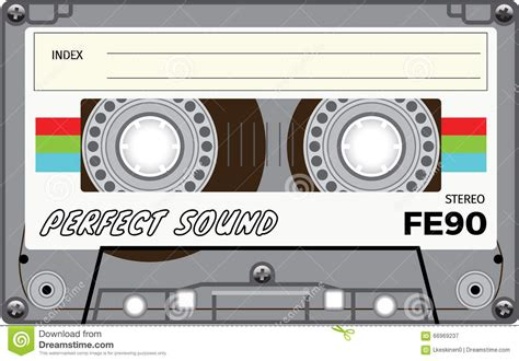 vintage cassette vintage cassette stock vector image 66969237