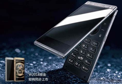 Samsung W2018 Samsung W2018 Is A Premium Android Flip Phone With Dual Display For The Market