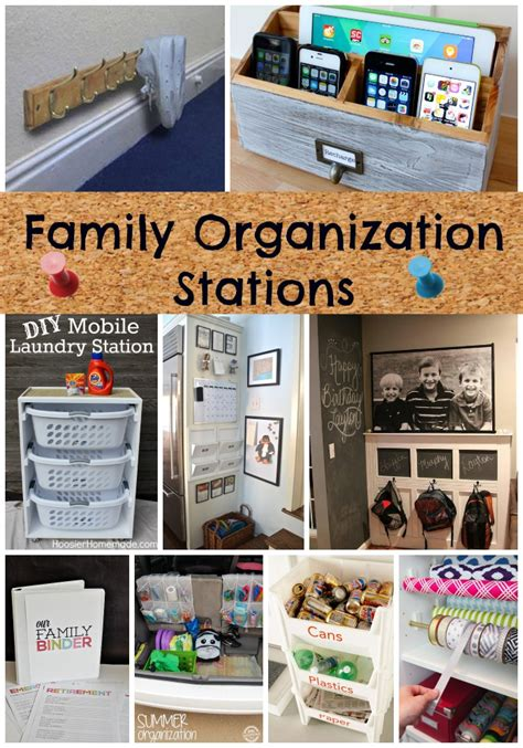 12 home organization stations to get organized diy tip junkie get organized now family organization stations from