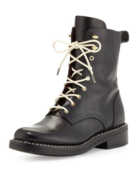 rage combat boots rag bone emil leather combat boot in black lyst