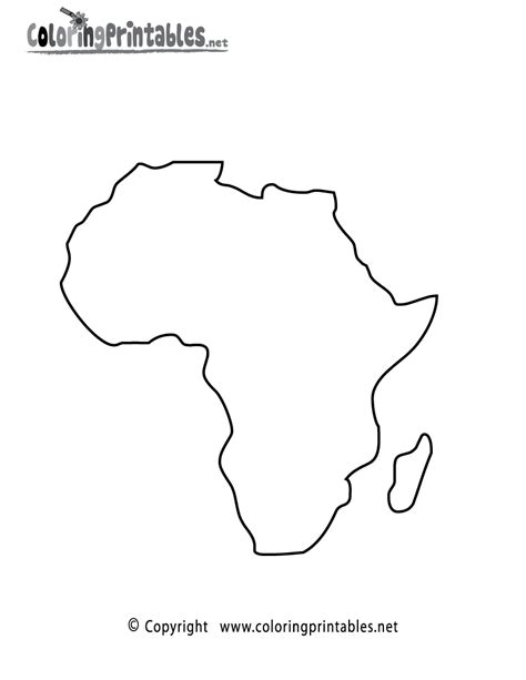 free printable africa map coloring page