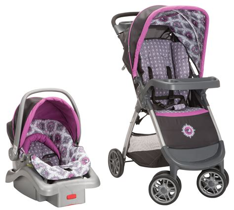 purple and gray stroller and carseat safety 1st pink grey travel system