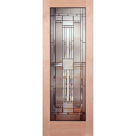 24x80 Exterior Door Feather River Doors 24 In X 80 In 1 Lite Unfinished Maple Patina Woodgrain Interior