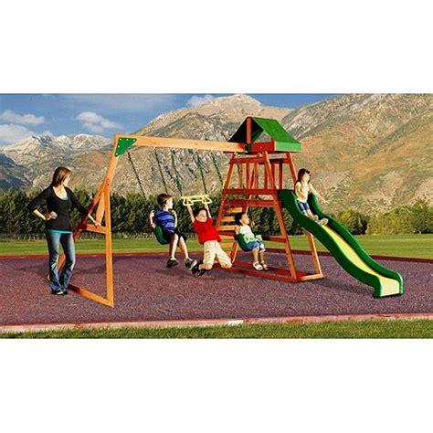 Backyard Discovery Prescott Cedar Wooden Swing Set backyard discovery prescott cedar wooden swing set