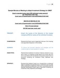 investment committee minutes template statutory meeting of company