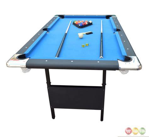 6 ft portable folding table blue fairmont 6 ft portable folding pool table w carrying