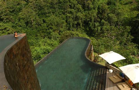 hanging infinity pools bali ubud hanging gardens bali indonesia lazy penguins