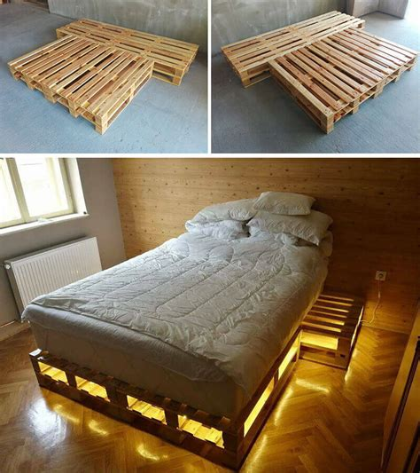 pallet bed ideas amazing ideas of wooden pallet bed with storage pallet idea