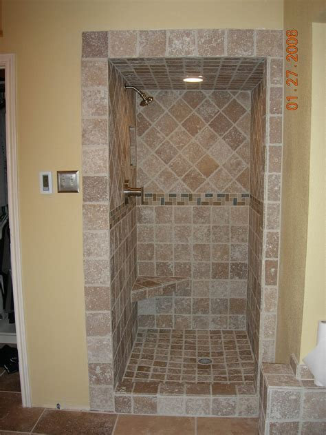 tiled showers travertine tile shower tile travertine contractor