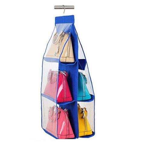 Purse Shelf by 6 Pocket Purse Handbag Hanging Storage Organizer Closet Rack Hangers Shelf Large Ebay