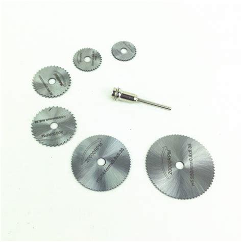 Hss Saw Blade 6 Pcs 3 Mm T3009 hss saw blade 22 25 32 35 44 50 60mm mini saw disc for