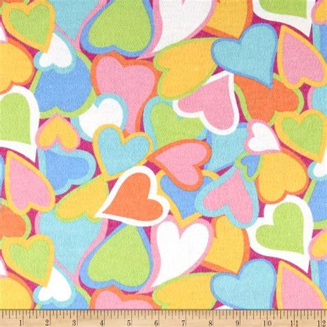 pastel flannel pattern be mine flannel pastel discount designer fabric fabric com