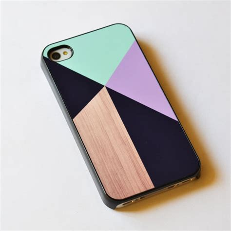 Iphone 4 4s Iphone4 Iphone4s Wood Wooden Hardcase geometric on wood iphone 4s iphone 4 cover by ideacase