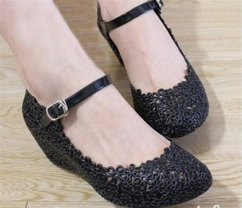 Sepatu Wedges Pantopel 7 5cm pricelessious windy shop open po wedges jelly shoes