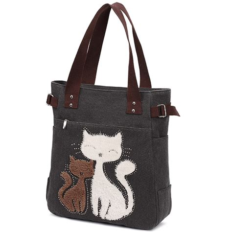Not A Cat Tote Bag kaukko cat canvas bag one shoulder messenger