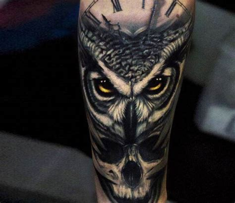 owl and skull tattoo amazing owl skull tattoo