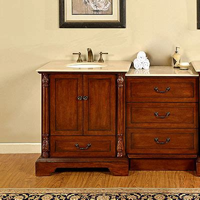 56 Bathroom Vanity by Silkroad Exclusive Traditional 56 Single Bathroom Vanity