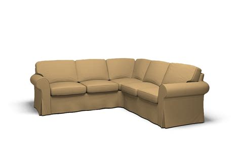 ektorp corner sofa 2 2 cover polo camel by covercouch