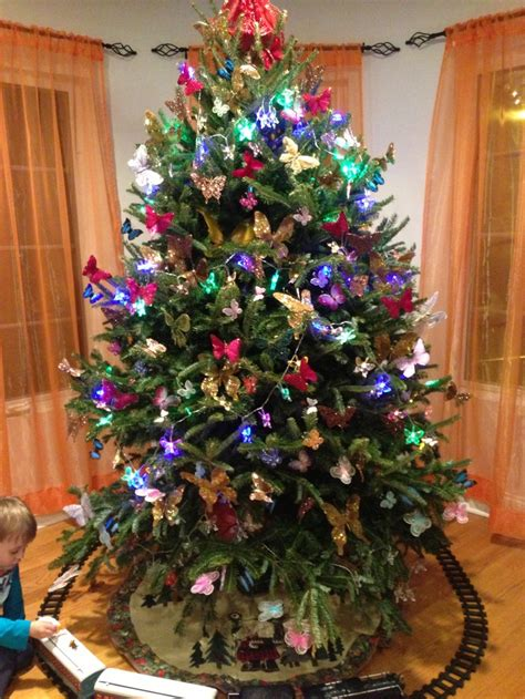 butterfly christmas tree butterfly christmas pinterest trees butterflies christmas trees