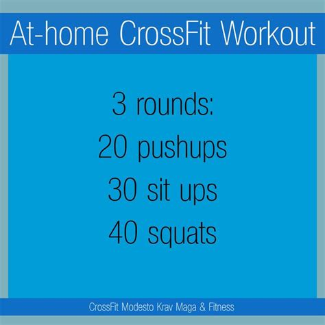 at home crossfit workout zero equipment