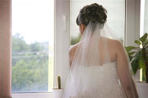 bride waiting   groom stock image image  dress