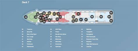 aida deckplan prima aidaprima deck 7 169 aida cruises