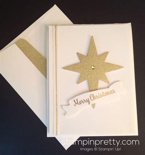 stin up star of light card simple starlight thinlits christmas card stin pretty