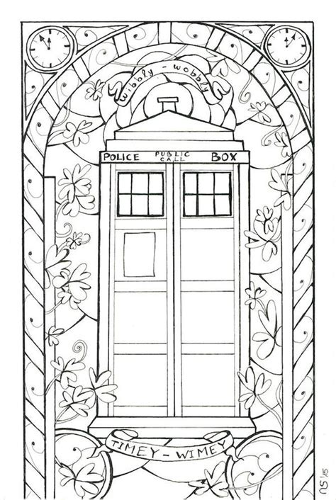 tardis coloring page coloring pages
