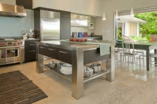 kitchen island stainless steel stainless steel kitchen islands ideas and inspirations