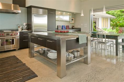 kitchen island metal stainless steel kitchen islands ideas and inspirations