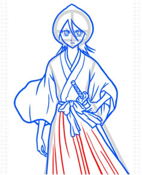 Has016 Tangan Karakter 3d Dengan Kuping Mulut cara menggambar anime rukia kuchiki part 1 goyang pensil