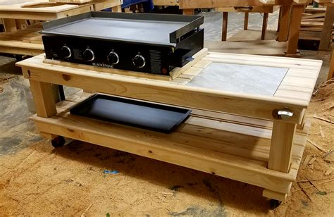 blackstone table top griddle griddle and griddle combo tables wood by