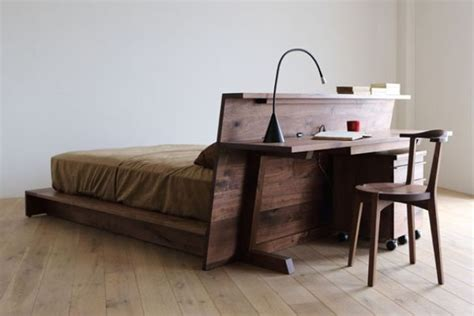 The Bed Desk by Bed Desk Combos Save Space And Add Interest To Small Rooms