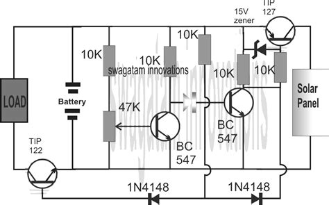 Simple Solar L Circuit by Li Ion Solar Charger Circuit