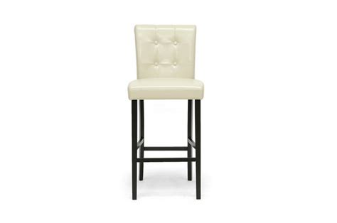 Tufted Button Back Bar Stools by 2 White Button Tufted Modern Faux Leather Bar Stools Scroll Back Chair 30 Quot Ebay