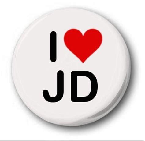 j d i love jd 25mm 1 quot button badge heart student emo goth