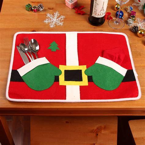 hot merry christmas decoration santa placemats mat pads