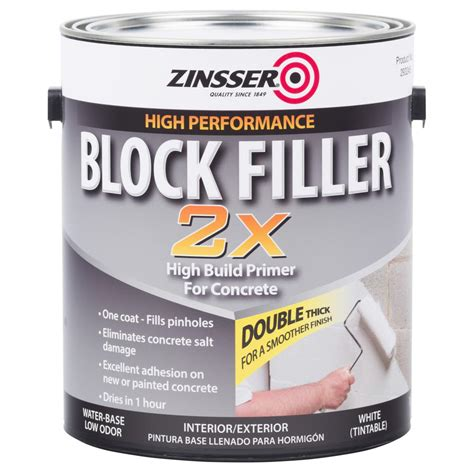 zinsser 1 gal block filler 2x primer case of 2 293245