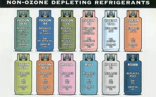what color is freon refrigerant