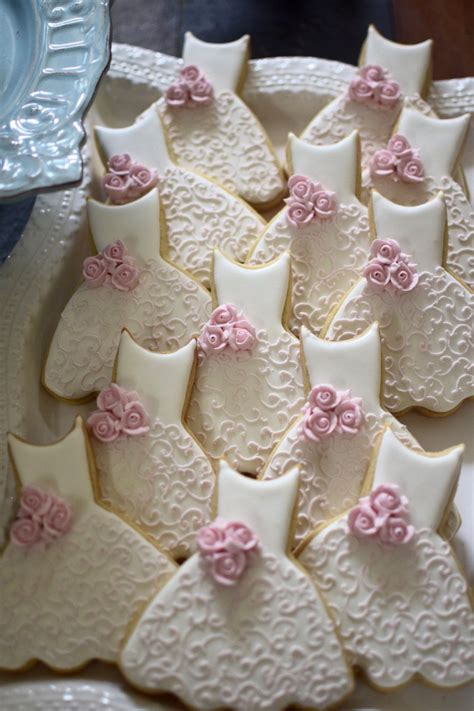 Bridal Shower Favors Cookies by Bridesmaid Dress Cookies 10 Pieces Cookie Favors Wedding