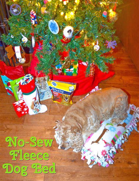 no sew dog bed no sew fleece dog bed bigdiyideas com