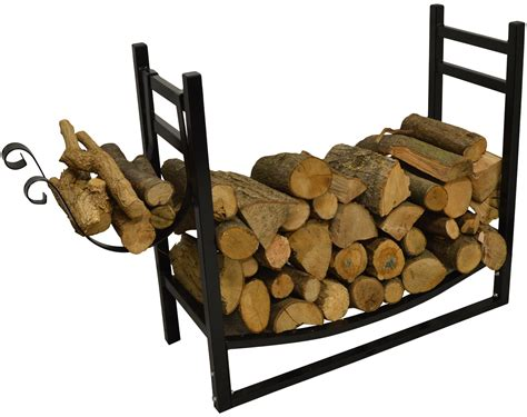 firewood holder hausen indoor wood rack with kindling holder log firewood